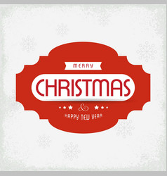 christmas greetings card with light background vector image