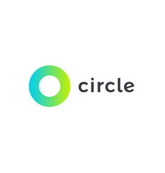 circle logo template round minimal shape vector image