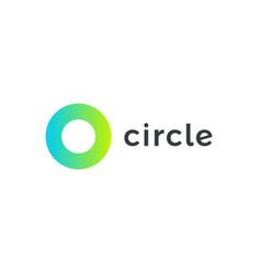 circle logo template round minimal shape vector image