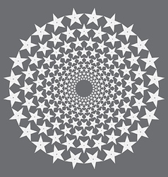 Circular stars vector