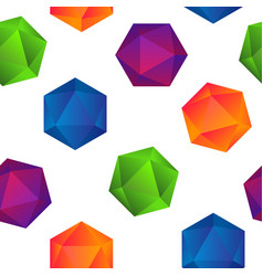 colorful gradient diamonds seamless pattern on vector image