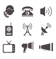 Communication business information media web icons vector