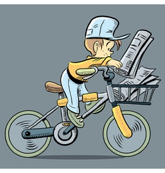 Cute Paper Boy vector image