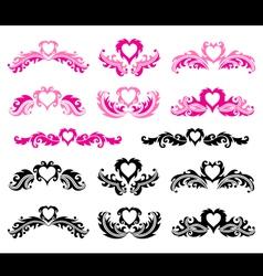 Decorative romantic elements vector image