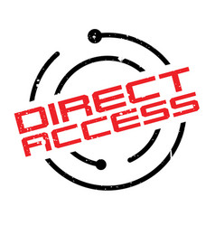 direct access rubber stamp vector image