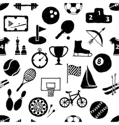 Doodle sport seamless pattern vector