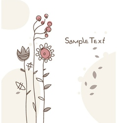 Doodles floral background vector