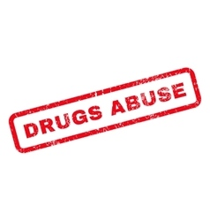 Drugs Abuse Text Rubber Stamp vector