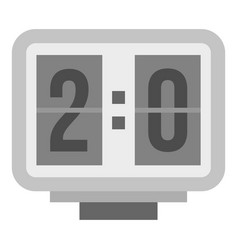 Electronic soccer scoreboard icon isolated vector