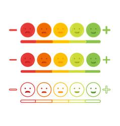 Feedback emoticon emoji smile icon vector