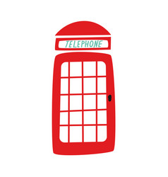 flat british red photo booth icon vector image