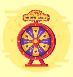 fortune wheel winner lucky chance spin wheels vector image