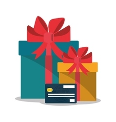 Gift and shopping online design vector