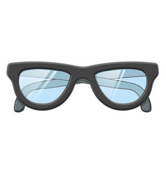 glasses colored drawing vector image