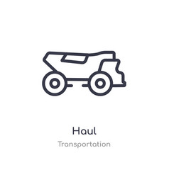 Haul outline icon isolated line from vector