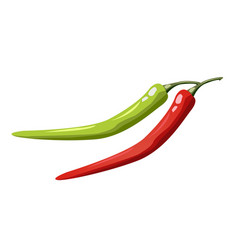 Hot chili pepper set isolated on white background vector