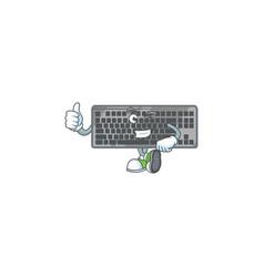 Icon black keyboard making thumbs up gesture vector