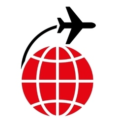 International Flight Flat Icon vector