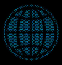 internet collage icon of halftone spheres vector image