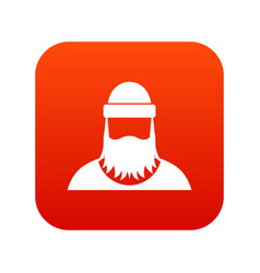 lumberjack icon digital red vector image