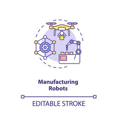 manufacturing robots concept icon vector image
