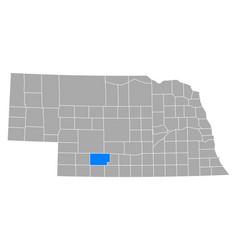 Map frontier in nebraska vector