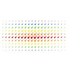 Medication granule spectrum halftone array vector