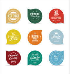 modern badges collection 3 vector image