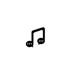 Musical chat logo design template vector
