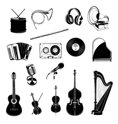 Musical Instrument Design Elements Set Horn vector