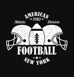 new york american football print vector image