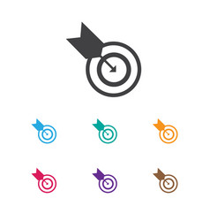 Of education symbol on goal vector