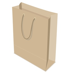 Paper bag isolated vector