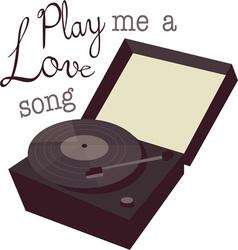 Play A Love Song vector