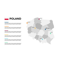 poland map infographic template slide vector image