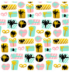 present seamless pattern vector image