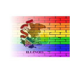 Rainbow wall illinois vector