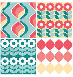 Retro geometric midcentury seamless pattern vector