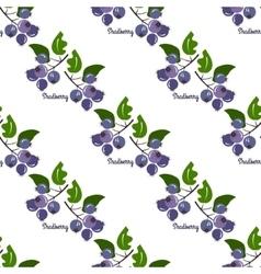 Saskatoon seamless pattern vector image