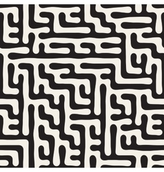 Seamless irregular hand drawn maze lines vector