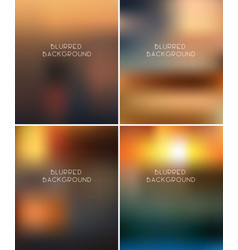 set blurred backgrounds vector image