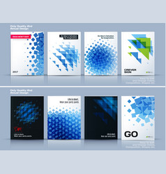 Set of business template brochure design vector