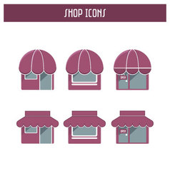 Set of the shop icons vector image
