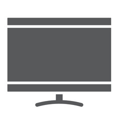 Smart tv glyph icon electronic and television vector