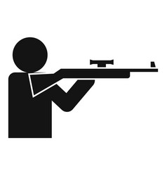 Sniper shooter icon simple style vector