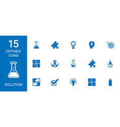 solution icons vector image
