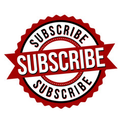 Subscribe label or sticker vector