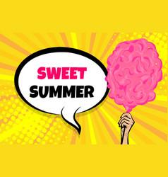 sween summer sale woman hold pop art vector image