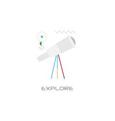 Telescope icon astronomy science explore concept vector