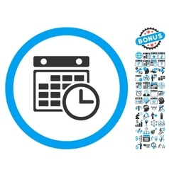 Timetable Flat Icon With Bonus vector image